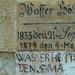 61. Az Ikva áradásairól készült tábla a Rózsa u. 1. ház falán