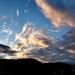 égi fények, foltokkal festett naplemente